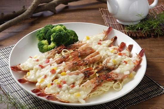 新店館-白醬海大蝦佐義麵